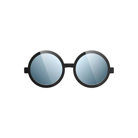 Sunglasses with Black Glasses on White Background. Vector 向量圖像