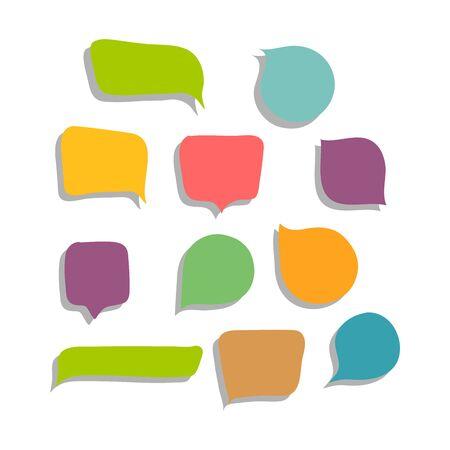 Set of colorful speech bubbles vector illustration
