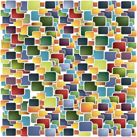 Squares Color Background. Vector Illustration Template for Flat Design Interface or Infographic 向量圖像