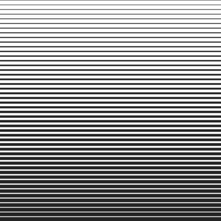 Line halftone pattern with gradient effect. Horizontal lines in black and white. Template for backgrounds and stylized textures. Vector design element.