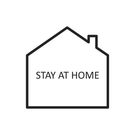 Let s Stay Home Vector Icon. Simple Vector Sign with House Isolated on a White Background. Stay Home Campaign