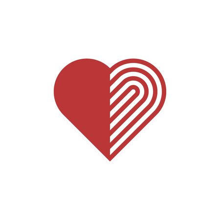 Linear stylized heart icon. Vector illustration. Stok Fotoğraf - 146096441