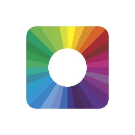 Clean vector color spectrum modern symbol icon. Vector illustration on white background.