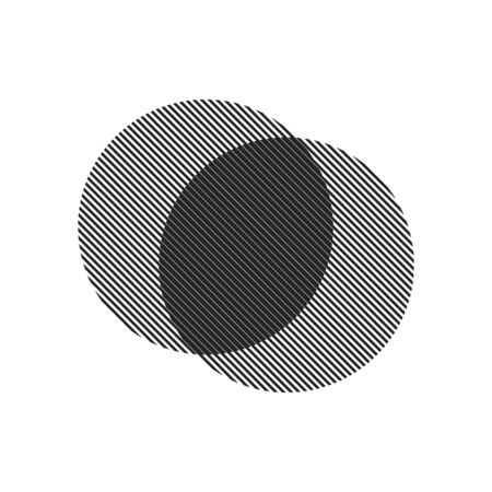 Circle Logo with lines.Square unusual icon Design .frame with Vector stripes .Geometric shape. stock illustration EPS10.