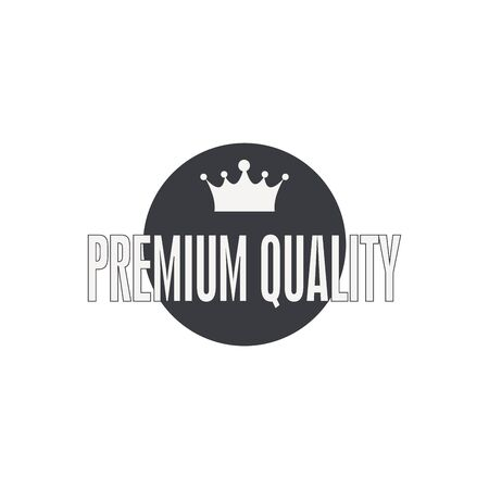 King Crown   Vector Illustration. Royal Crown Silhouette Isolated On White Background.