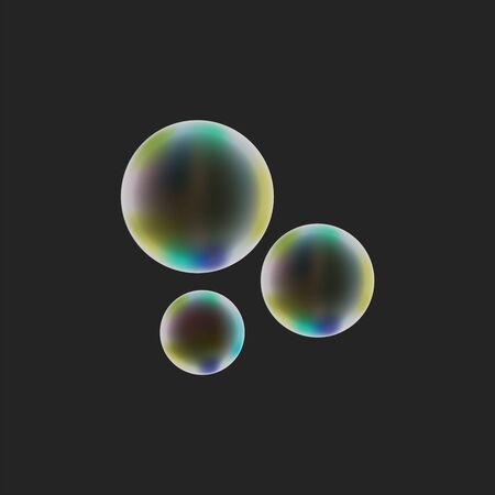 realistic soap bubble on dark background vector illustration EPS10.