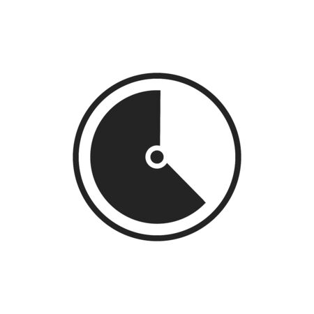 Time Icon Vector. Simple flat symbol. Illustration pictogram.