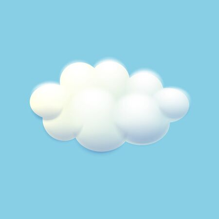 Vector illustration of cool single weather icon - cloud floats in the sky 版權商用圖片 - 147258947