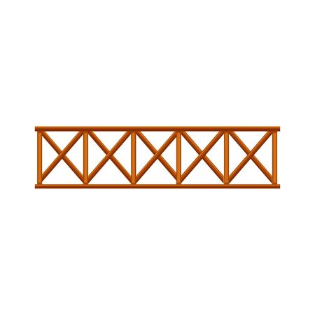 vector Illustration of the fence made of wood on a white background. Vecteurs