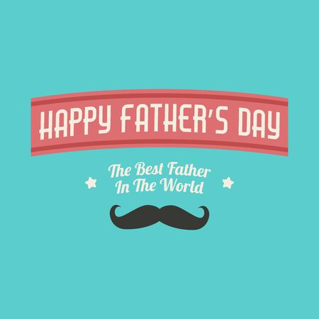 Happy fathers day , Fathers day background design ,Fathers day greeting card . Çizim