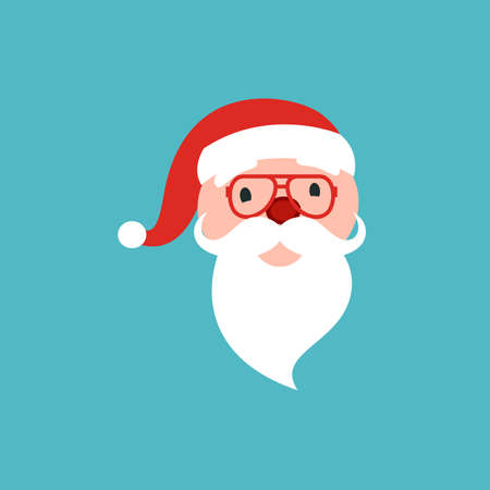 Vector cartoon illustration of friendly smiling Santa Claus Christmas design element. Stock. 版權商用圖片 - 155431752