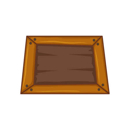 Wooden box isolated on a white background. Three-dimensional illustration, icon
