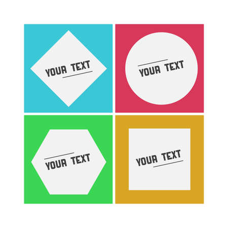 vector office set of empty white sheets with folded corners. Template collection 版權商用圖片 - 155605047