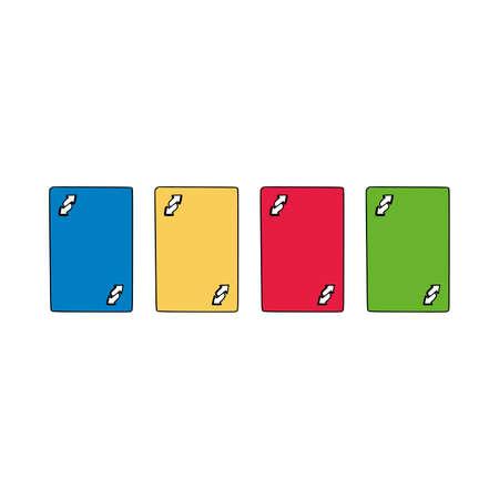 Modern Uno Cards Specific Design. Vector illustration