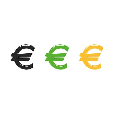 Currency Sign, Euro Money Icon Vector Logo Template Illustration Design. Vector illustration 版權商用圖片 - 164492374