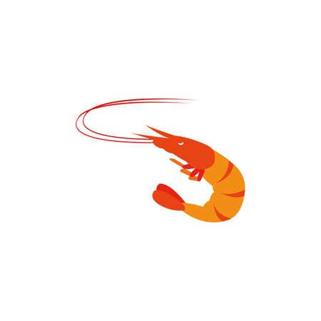Shrimp isolated on white background. illustration vector. Vector illustration