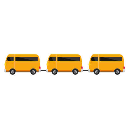 school bus isolated on white background, flat design icon back to school concept vector illustration