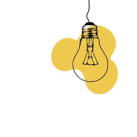 Idea symbol doodle, light bulb hand drawn vector illustration on white background 向量圖像