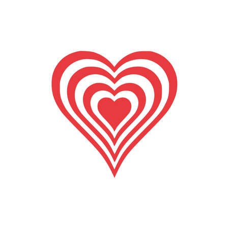 Love Heart icon vector image abstract beautiful heart on white background vector illustration