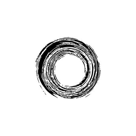 Vector Grunge Circle.Grunge Round Shape. stock vector illustration on white background