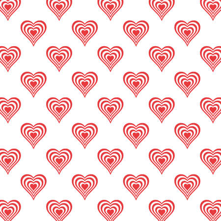 Red Heart Seamless Pattern valentines day on white background beautiful heart set Vector illustration 向量圖像