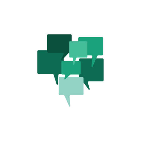 Chat icon. Voice speech bubble vector icon. Messages icon. Communicate symbol. Dialogue of people. Vector illustration 向量圖像