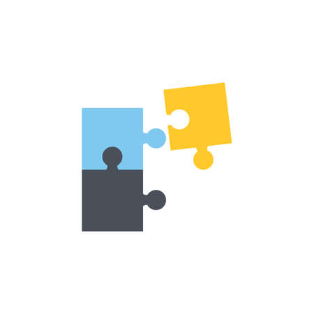 Puzzle icon. Simple illustration of puzzle vector icon for web. Vector illustration 向量圖像