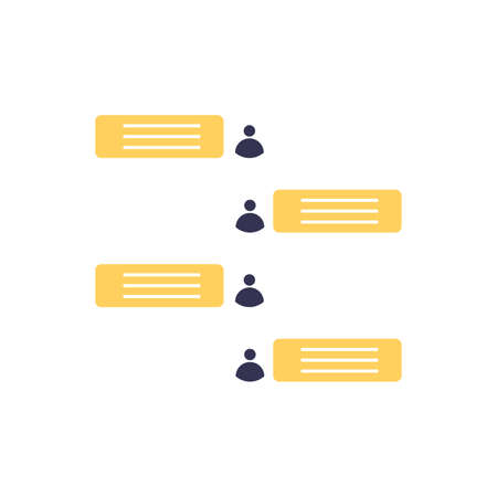 Chat icon. Voice speech bubble vector icon. Messages icon. Communicate symbol. Dialogue of people. Vector illustration 版權商用圖片 - 163379965