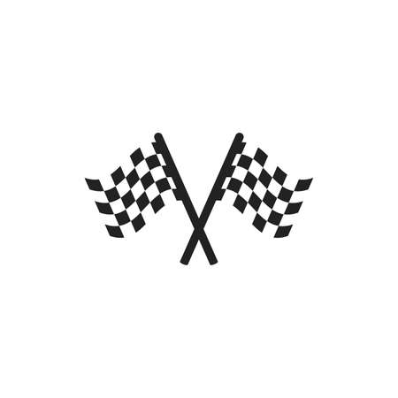 checkered race flag waveing vector background layout design. Vector illustration