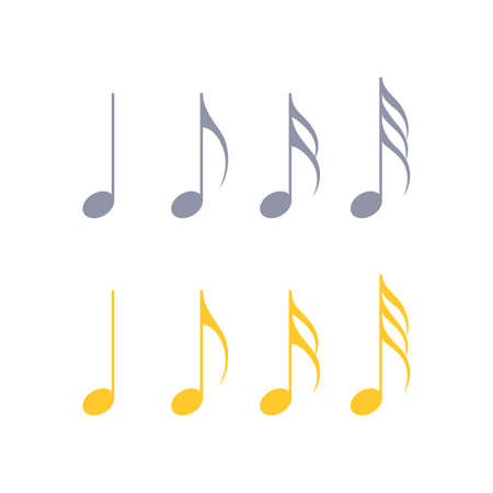 Music notes, musical design element, isolated, vector illustration. Vector illustration 向量圖像
