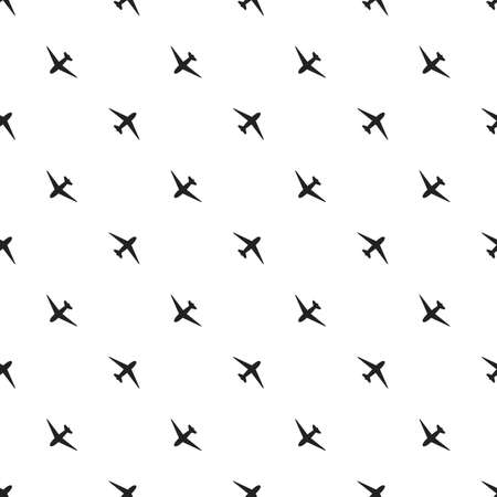 Seamless pattern of aircraft planes in the sky. Can be used for wallpaper, fabrics, packaging. Vector illustration