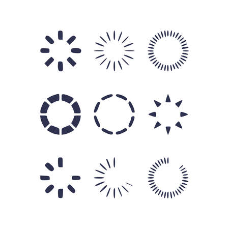 Loading vector icon set. hand drawn Loading style sign for mobile concept and web design 版權商用圖片 - 164755244