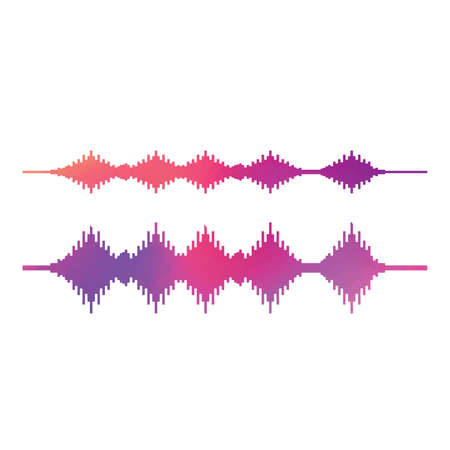 Sound Wave. Colorful sound waves for party. Audio technology. illustration vector on white background