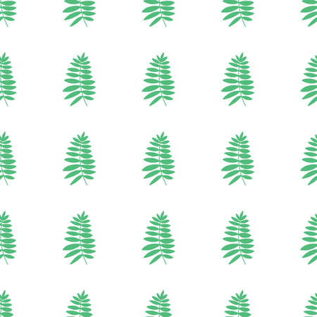 leaf tropical seamless pattern on white background.home decor textile and wallpaper. Vector Illustration
