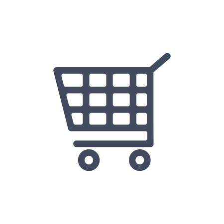 Shopping cart line icon. Vector symbol in trendy flat style on white background. illustration