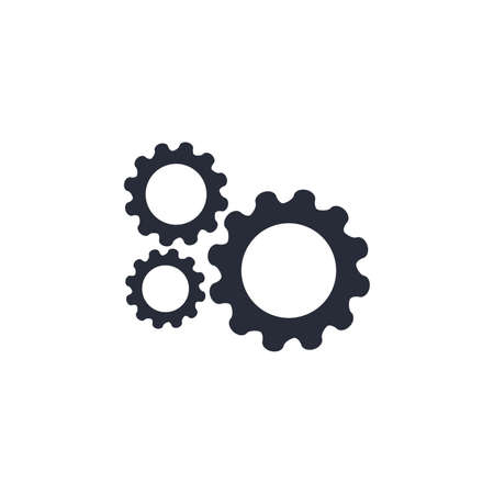 Gear icon. Gear symbol vector sign isolated on white background. stock illustration