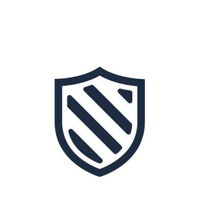 Security icon vector. Shield security symbol in trendy design