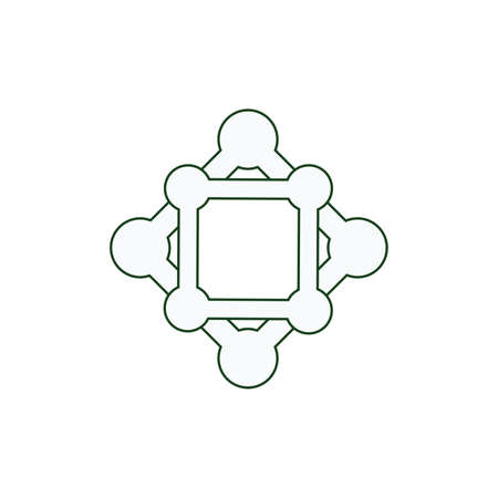 Teamwork vector icon. Style line symbol, gray color, white background.