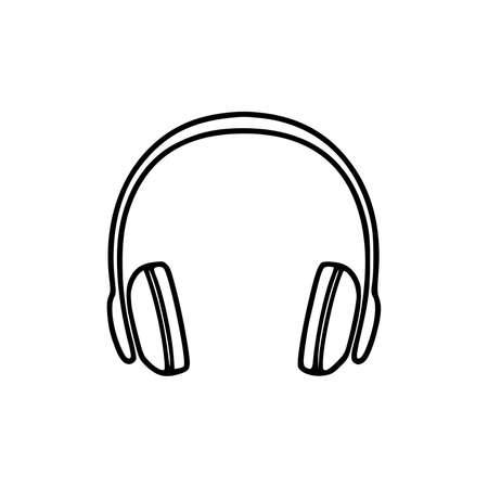 Headphones vector icon background. Web design icon. Headphones icon minimalist design. Headphones for music.