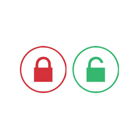 Security lock line icon. Private protection symbol. Quality design element. Editable stroke. security lock icon. Vector. Çizim