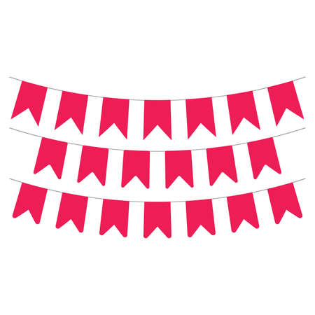Vector party celebration garlands and flags decoration card background template. Vector illustration