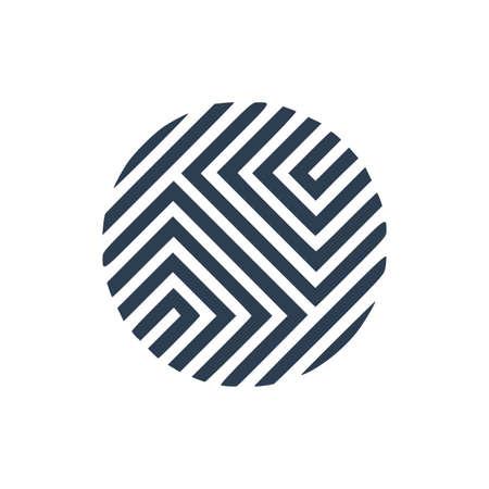 Geometric element, symbol. Gradient logotype. Vector illustration. Minimal design. Isolated shape. 向量圖像
