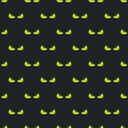 angry green eye. Vector Illustration on black background. Seamless pattern. Çizim