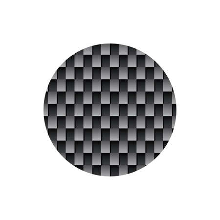 Abstract Sphere Element with black Pattern. Global Connection Isolated on white Background Vector illustration
