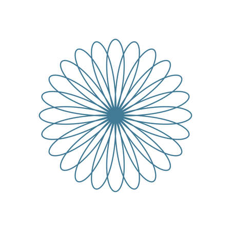 Simple flower line icon. Stroke pictogram. Vector illustration isolated on a white background. Premium quality symbol. Çizim
