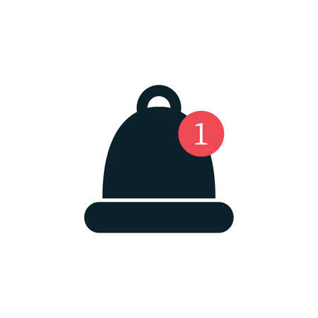 Bell icon vector, Alarm, service bell, sign Isolated on white background. Trendy Flat style for graphic design Çizim