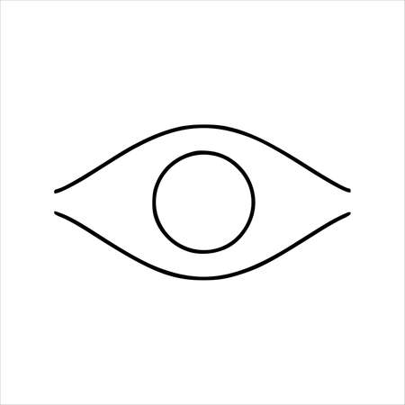 Human eye icon. Outline human eye vector icon for web design isolated on white background Vector illustration