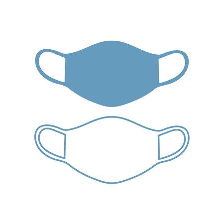 mask virus epidemic. mask to protect medical. mask protects against breathing bacteria virus vector illustration 向量圖像