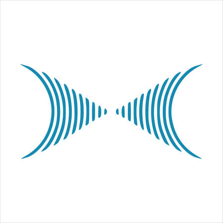 Motion sound wave element blue abstract vector background. Vector illustration