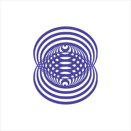 optical illusion black and white circles cone on white background Vector illustration 向量圖像